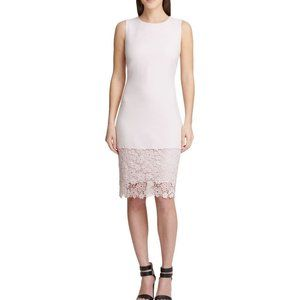 DKNY Pink Sleeveless Knee Length Sheath Dress